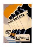 Le Parisien Metal Print