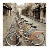 City Street Ride Paris Prints by Alan Blaustein