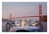 Dream Cafe Golden Gate Bridge 78 Poster by Alan Blaustein