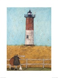 Feeling the Love at Nauset Light Posters par Sam Toft