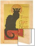 Tournee Du Chat Noir Wood Print