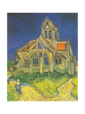 Leglise d'Auvers Metal Print by Van Gogh Vincent