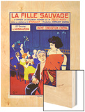 La Fille Sauvage Wood Print