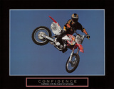 Confidence – Motorbiker Kunstdruck von  Unknown