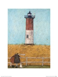 Feeling the Love at Nauset Light Prints by Sam Toft