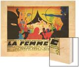 La Femme Nue Wood Print