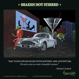 Bond 007 (Shaken Not Stirred) Posters by Michael Godard