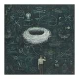 Drafting, Drifting ConsciousNest Plakaty autor Duy Huynh