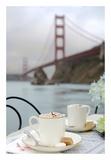 Dream Cafe Golden Gate Bridge 6 Prints by Alan Blaustein
