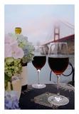 Dream Cafe Golden Gate Bridge 14 Poster by Alan Blaustein