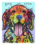 Dog is Love Posters by Dean Russo