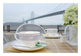 Dream Cafe Bay Bridge 1 Print by Alan Blaustein