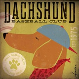 Dachshund Baseball Posters by Stephen Fowler