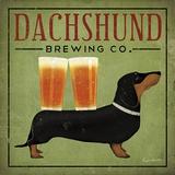 Dachshund Brewing Co. Kunst af Ryan Fowler