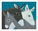 Donkey Family Posters by Casey Craig