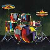 Drum Set Prints by Elli Milan