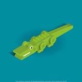 Crocodile Print by Bo Virkelyst Jensen