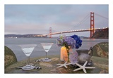 Dream Cafe Golden Gate Bridge 62 Print by Alan Blaustein