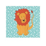 Fuzzy Lion Posters by Catherine Colebrook