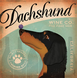 Dachshund Wine Posters by Stephen Fowler