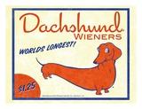 Dachshund Wieners Poster by Brian Rubenacker