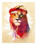 Gym Lion Kunstdrucke von Robert Farkas