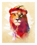 Gym Lion Prints by Robert Farkas