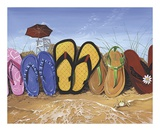 Flip Flop Fence Prints by Scott Westmoreland