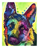 German Shepherd Art by Dean Russo