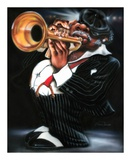 Jazzman Papa Joe Prints by Leonard Jones