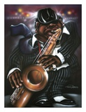 Jazzman Moe Art by Leonard Jones