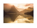 Mitre Peak At Sunset, Milford Sound, South Island, New Zealand Posters by Dominic Webster