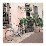 Liguria Bicycle 2 Print by Alan Blaustein