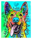 Love and a Dog Art by Dean Russo