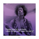 Jimi Hendrix – Purple Haze (lyric) Print by  Unknown