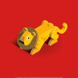Lion Print by Bo Virkelyst Jensen