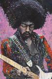 Jimi (Hendrix) Kunst af Stephen Fishwick