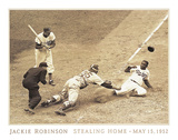 Jackie Robinson Stealing Home, May 15, 1952 Art by  Unknown
