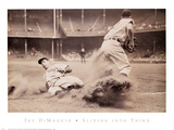 Joe DiMaggio – Sliding into Third Prints by  Bettmann/Corbis