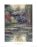 Monet's Japanese Bridge Prints by Charles White