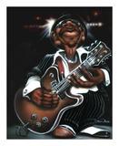 Jazzman Cool Poster van Leonard Jones