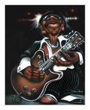 Jazzman Cool Posters by Leonard Jones