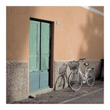 Liguria Bicycle 1 Print by Alan Blaustein