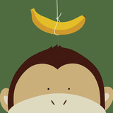 Peek-a-Boo Monkey Posters by Yuko Lau