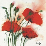 Mohnblumen im Wind I Posters by  Marthe