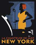 La Chanteuse de Jazz Prints by Johanna Kriesel