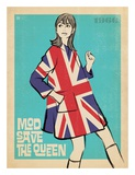 Mod Save the Queen Print by  Anderson Design Group