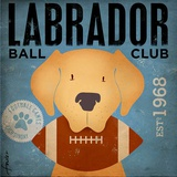 Labrador Ball Club Print by Stephen Fowler