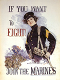 If You Want to Fight! Print by Howard Chandler Christy