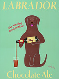 Labrador Chocolate Ale Prints by Ken Bailey